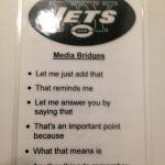 Jets card of bridge messages side 1