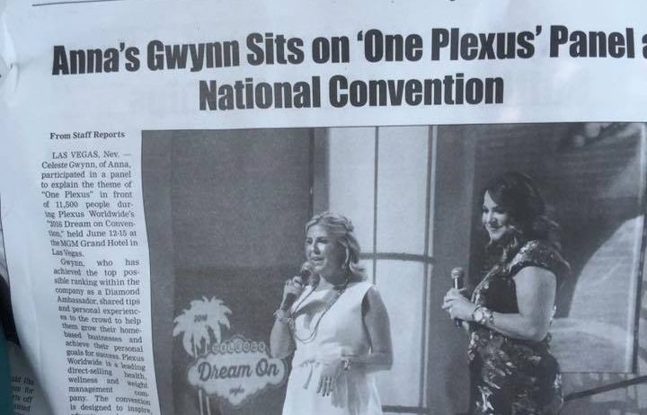 news article showing anna gwynn for One Plexus panel, highlighting media coverage obtained by working with 10 to 1 public relations