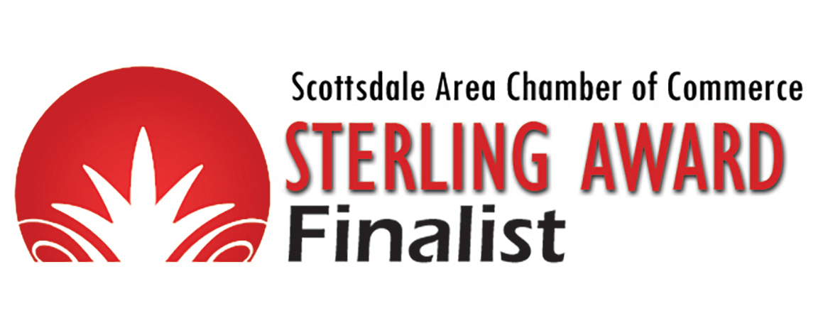 sterling awards finalist logo, 10 to 1 public relations was chosen as a finalist
